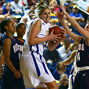 "03/18/2010 NEWARK, DE: Freshman Elena Delle Donne out of Wilmington, DE was shout down in the first half by the lady Spiders Of Richmond, Elena Delle Donne scored 19 of her team-high 25 points in the second half leading the Hens 24 points as Delaware goes down 67-49 to Richmond in the first round of the Women's National Invitation Tournament at the Bob Carpenter Center...The Blue hens, have gone to five trips the the WNIT, they have lost all five games they've played in the the WNIT, Delaware finishes out the season with a record 21-12, marking the team's eighth 20-win season in 11 seasons...Richmond (20-12), will now advance to the second round to play Syracuse at Syracuse monday March 22 at 7pm, Syracuse is coming off a 19 point win over Harvard, head coach Michael Shafer  said  ""I was tremendously proud of the way our ladies competed,"" ""We played extremely well, especially on the defensive end. I thought if we were able to crash the boards and push the ball, then we would have a good chance to win the ballgame. When we're able to run, we get into a rhythm to knock down shots. That's what happened today."" ""Britt handled [the homecoming back to Delaware] well,"" said Shafer. ""I'm very pleased with her effort, I thought she handled it well. She had five assists and played tough on the defensive end. She had a great game for us."" .The Spiders were unstoppable in the first half, connecting on (59%) of their baskets, including 6-of-8 from long range. The 40 first-half points scored was the most point production by the Spiders since Feb. 26th against GW (41), The Hens, playing in the WNIT for the first time since 2006, had a tough shooting night they only made 15 of 52 shots from the field, and at time looked very sloppy, Now it's time for Delaware to go out and get them an big athletic young lady to help Elena Delle Donne.."