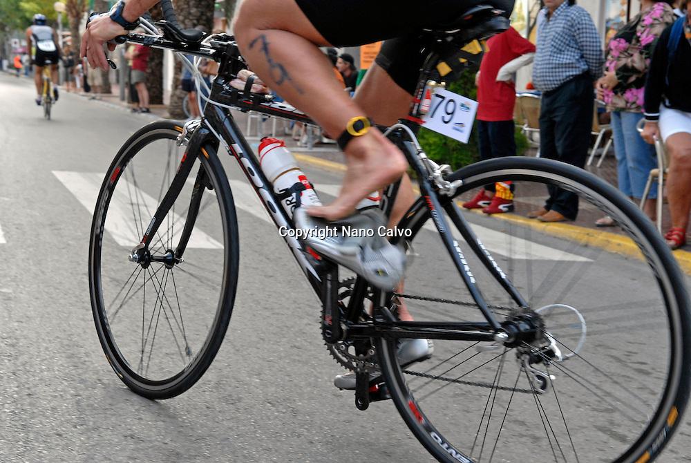 Home de Ferro, long distance triathlon competition in Ibiza, Spain