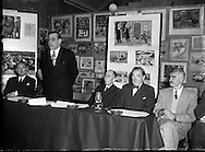 Alderman R Briscoe, Lord Mayor of Dublin, Opening Caltex Child Art Exhibition at Parnell Square.21/12/1956