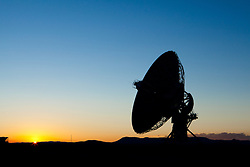 Sunset on one of the 27 antennas that make up the Very Large Array (VLA), in southwestern New Mexico.