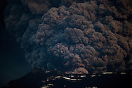 Iceland's Eyjafjallajokull during it's eruption, spewing tephra and ash cloud that drift toward continental Europe. 09 May 2010. © Etienne de Malglaive.