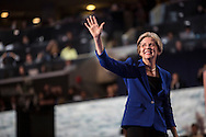 Massachusetts Democratic Senate candidate Elizabeth Warren waves after speaking at the Democratic National Convention on Wednesday, September 5, 2012 in Charlotte, NC.