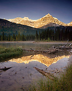 Epaulette Mountain and the Mistaya River Banff National Park Alberta Canada