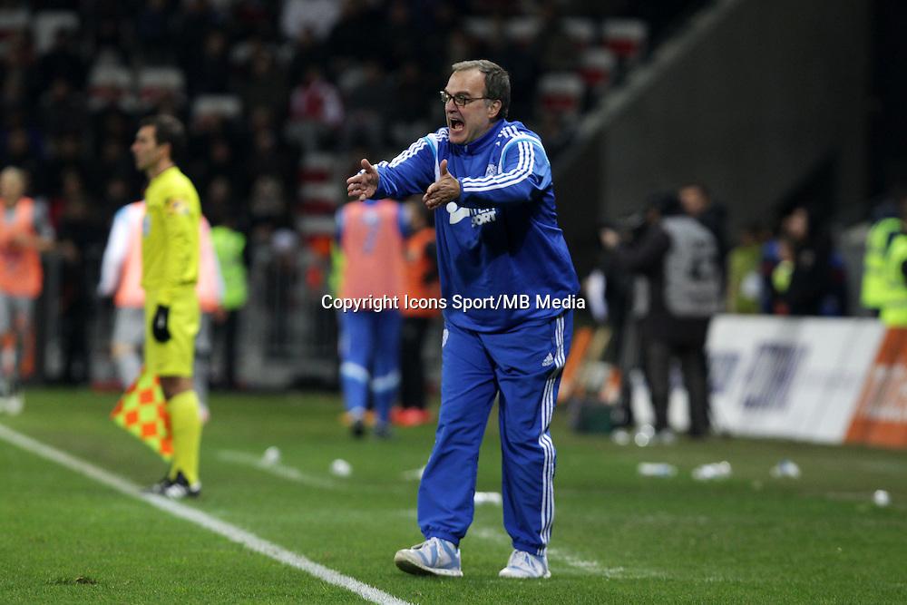 Marcelo BIELSA  - 23.01.2015 - Nice / Marseille - 22eme journee de Ligue 1<br />Photo : Jean Christophe Magnenet / Icon Sport