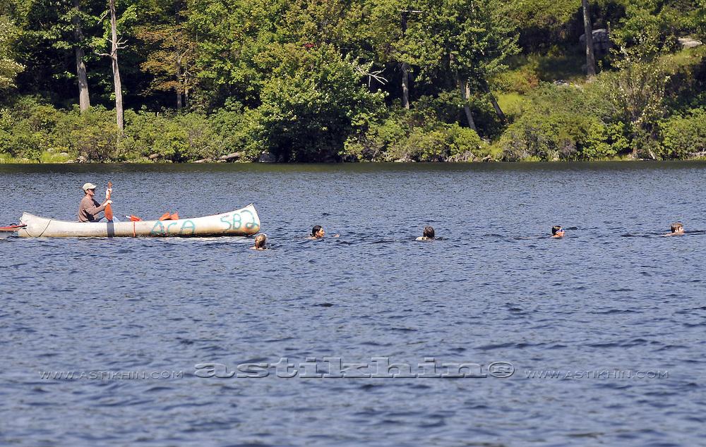 Labor Day Swimming on Sebago Lake