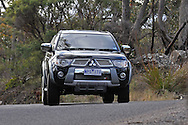 2009 Mitsubishi Triton TMR Edition.Black.Grampions Region, Victoria .25th July 2009.(C) Joel Strickland Photographics.Use information: This image is intended for Editorial use only (e.g. news or commentary, print or electronic). Any commercial or promotional use requires additional clearance.