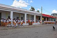 School kids in San Diego de los Banos, Pinar del Rio, Cuba.