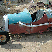 An old go-cart on display at the Bouse, AZ Ghost Town museum in Bouse, AZ.  The muesum has been torn down since the photo was taken.