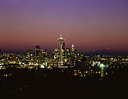 AA00564-01...WASHINGTON - A 1988 photo of the Seattle skyline at sunset.