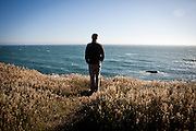 Pascal Massimino takes in the Pacific from Gualala Point Regional Park in Gualala, Calif., on July 3, 2011.