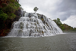 Water pours down Kings Cascades in the 2011 Kimberley wet season