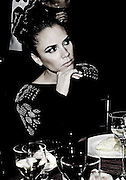 Victoria Beckham  at the British Fashion Awards, at the Royal Courts of Justice in central London. Posh was wearing a silk crepe Eighties-style batwing dress with crystal embroidery on the shoulderpads from her Spring/Summer 2010 collection.