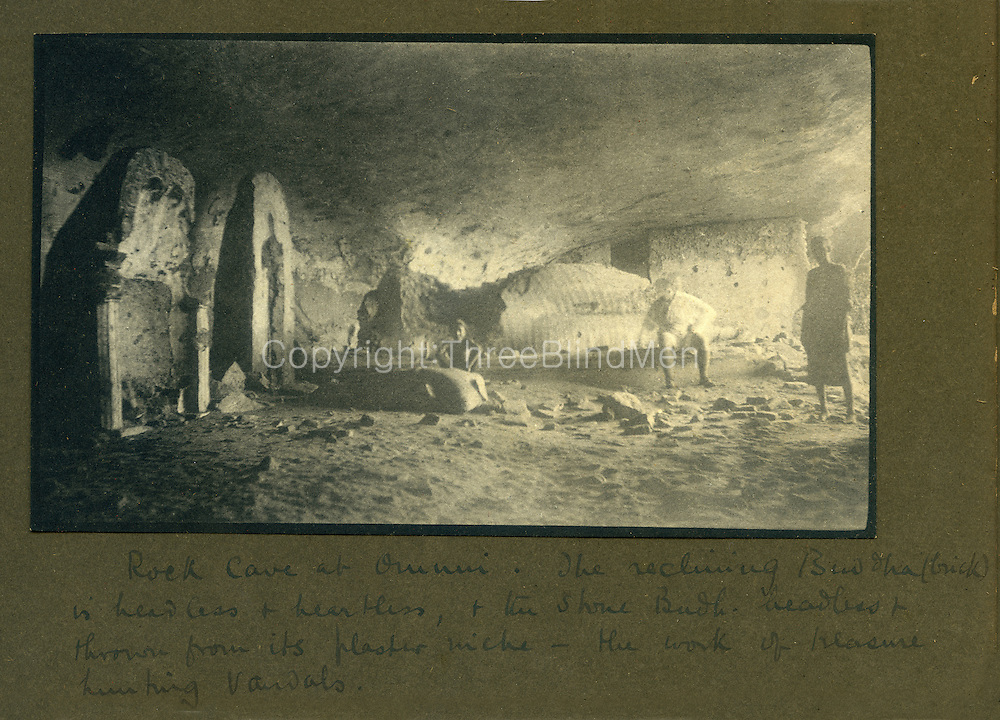 Rock Cave at Omuni (Omuna)<br /> from Dr. R.L. Spittel photograph albums.