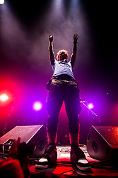 Ed Sheeran play the Goldenvoice Arena tent..Rockness 2012..©Michael Schofield..
