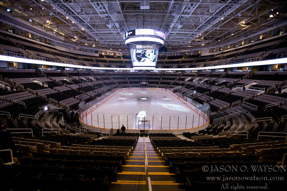 January 4, 2010; San Jose, CA, USA; The interior of HP Pavilion before the game between the San Jose Sharks and the Los Angeles Kings. Los Angeles defeated San Jose 6-2. Mandatory Credit: Jason O. Watson / US PRESSWIRE
