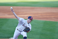 Ole MIss' Bobby Wahl (19) pitches vs. Alabama at Oxford-University Stadium in Oxford, Miss. on Friday, April 12, 2013. Ole Miss won 6-0 to snap a 6 game losing streak.