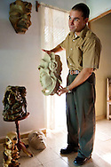 A sculptor living in the countryside east of Holguin, Cuba.
