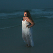 Moody portraits on the beach. (Model Release)