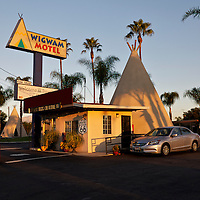 The Wigwam Motel in San Bernardino, California on Route 66..A trip through parts of Route 66 from Southern California to Arizona.