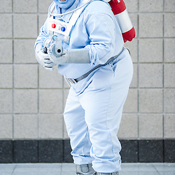 London, UK - 15 March 2014: Michael Hulcoop as Mr Freeze  poses for a picture during the London Super Comic Con at Excel.