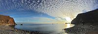 Sunrise over Scorpions Bay on Santa Cruz Island in Channel Islands National Park, California.
