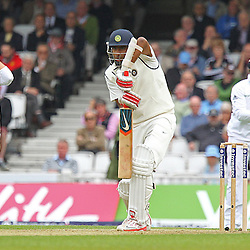 India's Ravichandran Ashwin narrowly escapes a nick during the first day of the Investec 5th Test match between England and India at the Kia Oval, London, 15th August 2014 © Phil Duncan | SportPix.org.uk