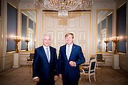 Koning Willem-Alexander ontvangt de heer Tillich, voorzitter van de Bondsraad van de Bondsrepubliek