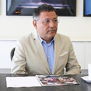 Fashion designer Elie Tahari in his office.