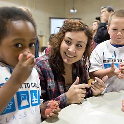 PLU Ed Students work with Kindergarteners