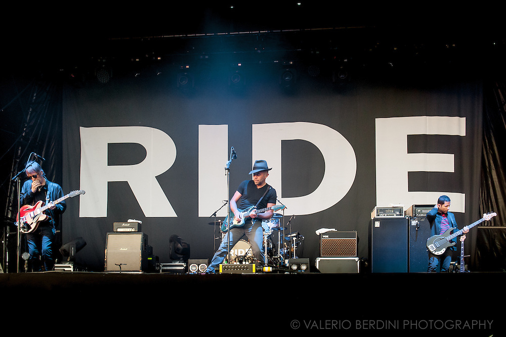 Ride on stage headlining day two of Field Day 2015 in Victoria Park, London