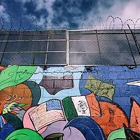 A mural along the United States-Mexico border wall  in Tijuana, Mexico on Tuesday, January 24, 2017.  Photo by Sandy Huffaker/Zuma Press