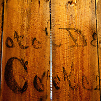 CORTEZ, FL - October 29, 2010 -- The word Cortez are seen on planks of wood in the Florida Maritime Museum in the Cortez fishing village in Manatee County, Fla., on Friday, October 29, 2010.  The tiny fishing village dates back to the 1880's and is the Gulf Coast's last working fishing village, as well as a speak-easy destination for artists, visitors and old-timers.  (Chip Litherland for SARASOTA Magazine)