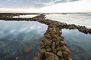 The archaeological stone walled fish traps at Stillbay in the Western Cape. Southern Africa