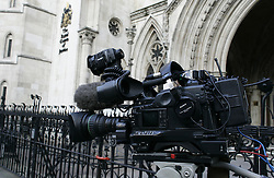 A Tv camera outside the High Court in Central London, 2008. Photo By Andrew Parsons / i-Images