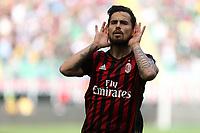 c - Milano - 09.04.2017 - Serie A 31a giornata  -  Milan-Palermo   - nella foto:  Suso esulta dopo il gol dell' 1 a 0