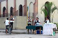 Beer and sandwiches in Niquero, Granma Province, Cuba.