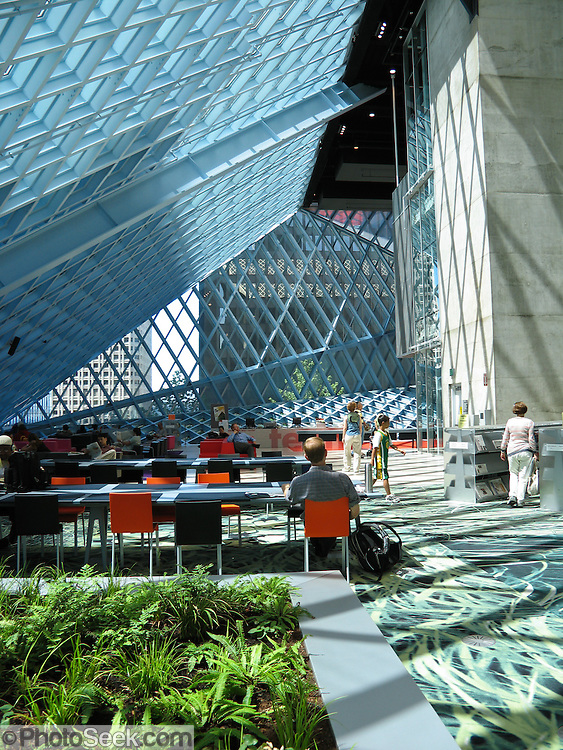 Foyer Architecture Library : Interior foyer seattle public library designed by dutch