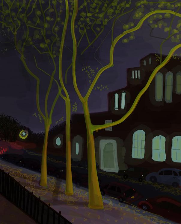 13th Street, Park Slope, Brooklyn at night
