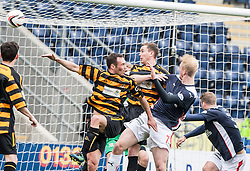 Falkirk's Mark Beck scoring their goal.<br /> Half time : Falkirk 1 v 1 Alloa Athletic, Scottish Championship game played today at The Falkirk Stadium.<br /> &copy; Michael Schofield.