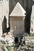 Israel, Jerusalem, tomb of prophet Zechariah at kidron valley