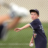 Jodi Miller.Brock Ricks, 9, pitched a wiffle ball to older brother Bo Ricks during practice Wednesday at a nearby indoor facility. The team has had three days off since their win against West on Sunday.
