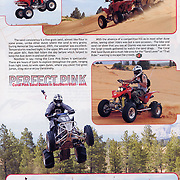 Page 13, 14 of Desert Sports and Recreation Magazine Volumn 1, Issue 5 featured images from the Coral Pink Sand dunes and an article that I wrote.