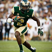 SHOT 9/19/15 6:10:38 PM - Colorado State's Deionte Gaines #2 runs with the ball during the Rocky Mountain Showdown Colorado at Sports Authority Field at Mile High in Denver, Co. Colorado won the game 27-24 in overtime. (Photo by Marc Piscotty / © 2015)