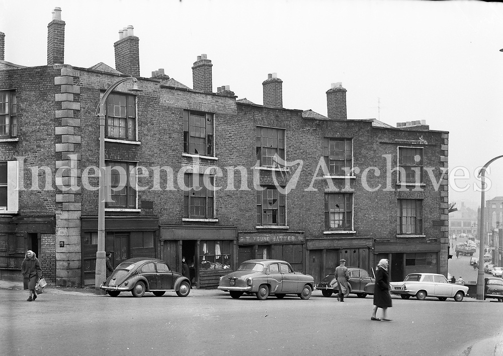 Winetavern Street in Dublin, February 21 1964. <br /> (Part of the Independent Ireland Newspapers/NLI Collection)