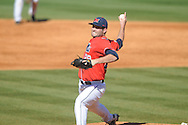 Ole Miss' Sam Smith (29) pitches vs. Rhode Island at Oxford-University Stadium in Oxford, Miss. on Sunday, February 24, 2013. Ole Miss won 5-3 to improve to 7-0.