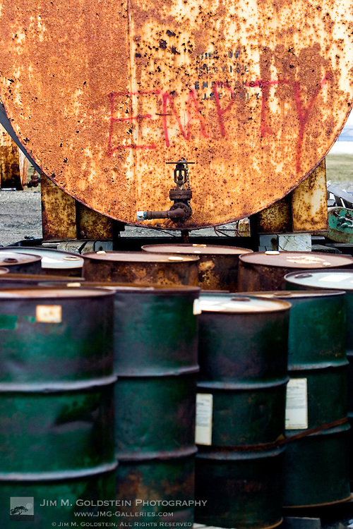 Empty Oil Barrels in the Arctic National Wildlife Refuge, Alaska
