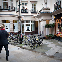 A street in Mayfair, London, UK.
