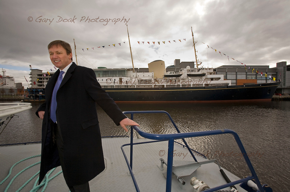 Charles Hammond, Chief executive of Forth Ports, with Britannia in background.
