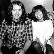Rory Gallagher and Pat Benatar are backstage after his performance at the Bottom Line in September, 1979