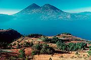 GUATEMALA, HIGHLANDS Lake Atitlan; surrounded by volcanoes